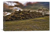Log Pile, Canvas Print