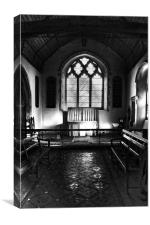 The Chancel By Sunlight, Canvas Print