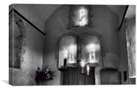 Candles In The Chancel, Canvas Print