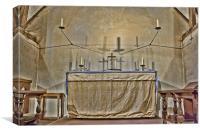 Upper Sanctuary St Nicholas Compton, Canvas Print