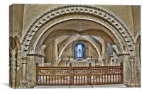 Lower Sanctuary St Nicholas Compton, Canvas Print