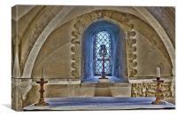 Sanctuary St Nicholas Compton, Canvas Print