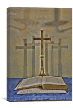 The Book And The Cross, Canvas Print
