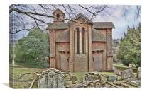 Watts Cemetery Chapel Compton, Canvas Print