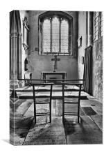 Shadows Of Church Chairs, Canvas Print