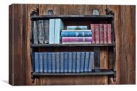 Religious Book Shelf, Canvas Print