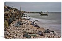 Sea Defences Shellness, Canvas Print