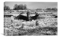 In The Boat Graveyard, Canvas Print