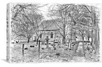 St Peter And St Paul Bilsington, Canvas Print