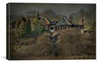 Derelict Mansion, Canvas Print
