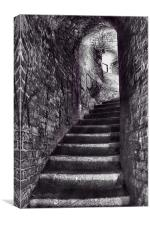 Fort Stairs, Canvas Print