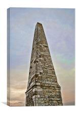 Obelisk At Sunset, Canvas Print