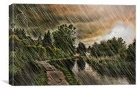 Storm Arrives At Loose, Canvas Print