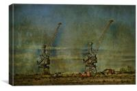 Cranes On The Swale, Canvas Print
