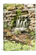Waterfall In The Park, Canvas Print
