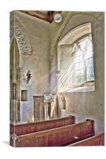 Pulpit Light, Canvas Print