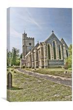 Holy Cross Church Goodnestone, Canvas Print
