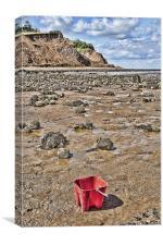 Bucket On The Beach, Canvas Print