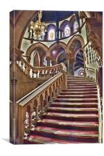 Chester Town Hall Staircase, Canvas Print
