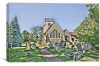 All Saints Ockham, Canvas Print