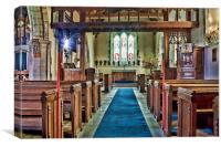 St Dunstan West Peckham, Canvas Print