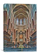 Holy Saviours Cathedral Brugge, Canvas Print