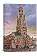 The Belfry Of Bruges, Canvas Print