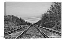 Low On The Tracks, Canvas Print