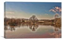 Teston Flood, Canvas Print