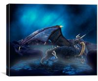 Dragon Lights, Canvas Print