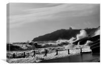 Folkestone Storm Tide, Canvas Print