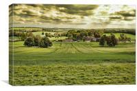 Swarling Manor Farm, Canvas Print