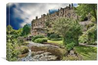 Warwick Castle And The Avon, Canvas Print