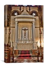 St Peter and St Paul Charlton - Altar, Canvas Print