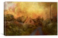 Church Road Hucking, Canvas Print