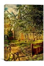 St Laurence Bapchild, Canvas Print