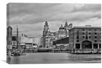 Docklands, Liverpool, Canvas Print