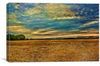 Sunset Over Wye Downs, Canvas Print