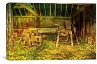 Machine In The Barn, Canvas Print