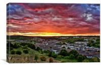 Sunset Over Dover, Canvas Print