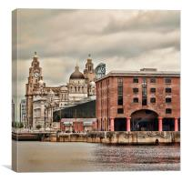 The Albert Docks And Liver Building, Canvas Print