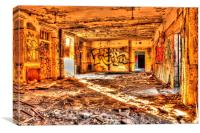 Graffiti Hall, Canvas Print