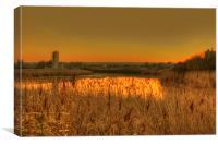 Medway Sunset, Canvas Print