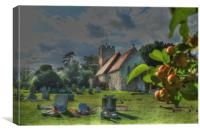 The Church In The Orchard, Canvas Print