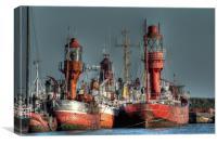 Lightships, Canvas Print