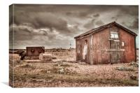 Old Shed at Dungeness, Canvas Print