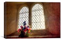 Church Flowers At Capel, Canvas Print