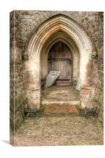 Church Open, Canvas Print