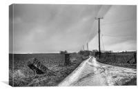 The Road To Kingsdown Church, Canvas Print