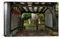 Into Smarden Churchyard, Canvas Print